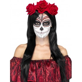 Day of the Dead Roses Headband