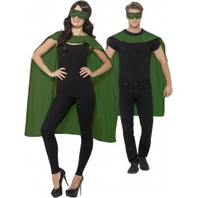 Green Cape with Eyemask Unisex