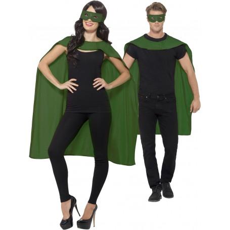 Green Cape with Eyemask Unisex