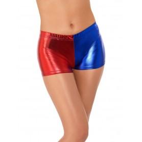 Fever Miss Jester Whiplash Shorts, Red & Blue