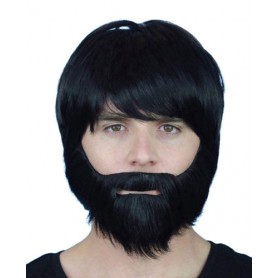Beard - Synthetic with Elastic Black