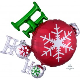 Ho Ho Ho Ornament - Foil Shape 88 x 71cm