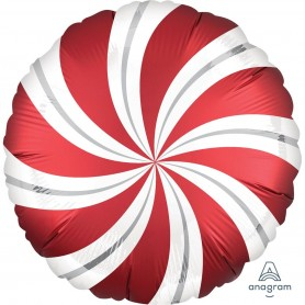 Satin Infused Candy Swirl Foil Balloon - Sangria 45cm