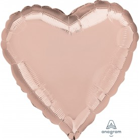 "Heart Foil Balloon 18"" - Rose Gold"