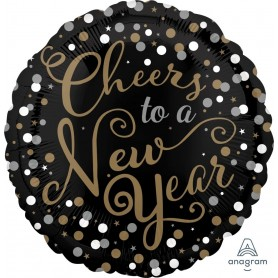 "New Year Confetti Celebration - Foil Balloon 18"" 45cm"