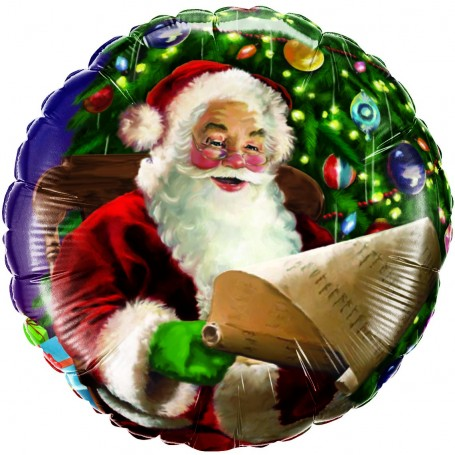 Santa's Christmas List Foil Balloon - 45cm