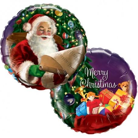 Santa's Christmas List Foil Balloon - 45cm
