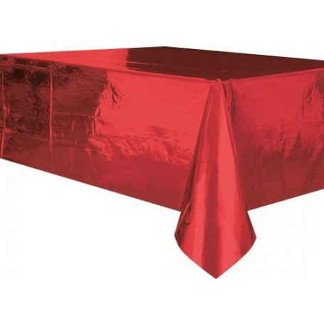Table Cover Rectangle Metallic Red - 137cm x 274cm