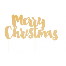 Merry Christmas - Gold Foil Cake Topper - Illume Partyware