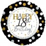 """Happy 18th Birthday with Dots - Foil Balloon 18"""" 45cm"""