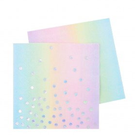 Iridescent Cocktail Napkin – 20 Pack