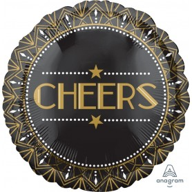 "Lights, Camera, Action, Cheers! - Foil Balloon 18"" CHEERS"
