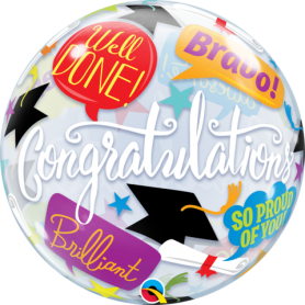 Graduation Accolades - Bubble Balloon 22""