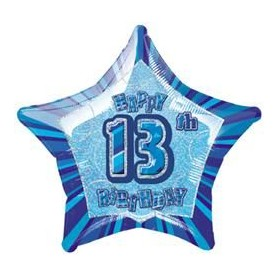Glitz 13th Birthday - Foil Balloon 20""