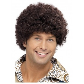 70's Disco Dude Wig - Brown
