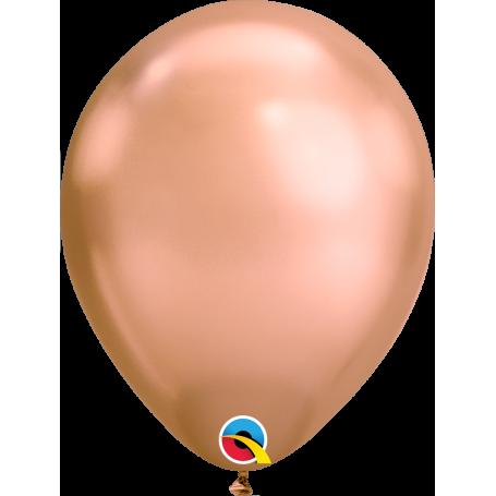 "Qualatex 11"" Round Latex Balloon - Chrome Rose Gold"