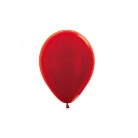 """Sempertex 5"""" Round Latex Balloon - Metallic Red"""
