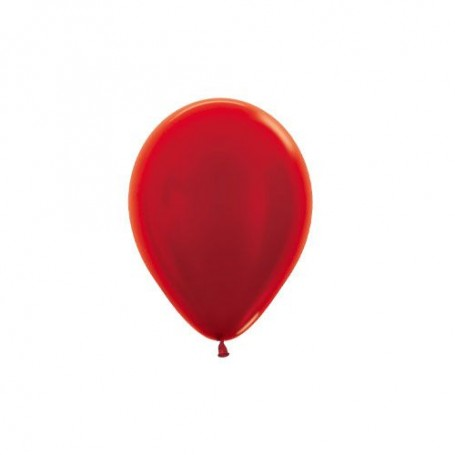 "Sempertex 5"" Round Latex Balloon - Metallic Red"