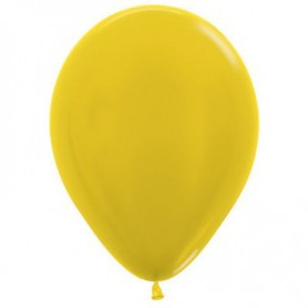 "Sempertex 12"" Round Latex Balloon - Metallic Yellow"