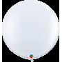 3ft Round White Latex Balloon - 2 Pack