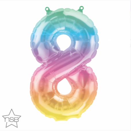 Number 8 Eight Jelli Ombre - 16 inch (Air-Fill) Foil