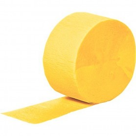Crepe Streamers 30m - National Gold (Yellow)