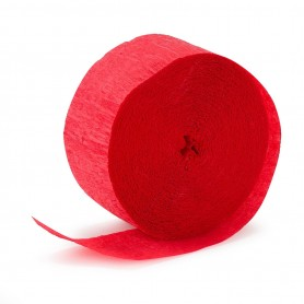 Crepe Streamers 30m - Red
