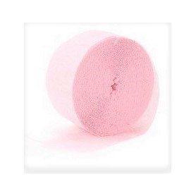Crepe Streamers 30m - Light Pink
