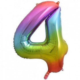 Number Four Rainbow Splash - Decrotex 86cm