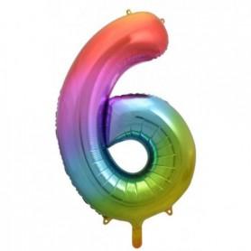 Number Six Rainbow Splash - Decrotex 86cm