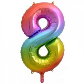 Number Eight Rainbow Splash - Decrotex 86cm