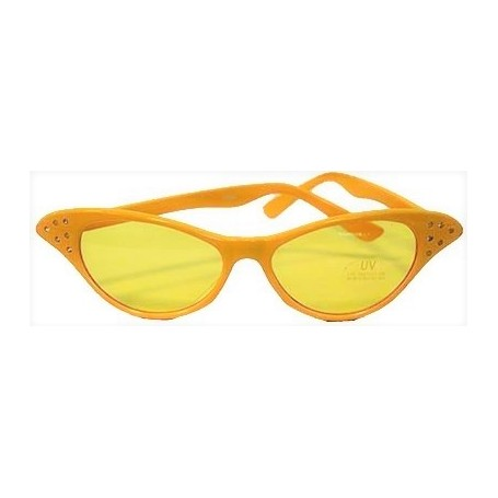 Dame Edna Glasses - Yellow Tinted Lens