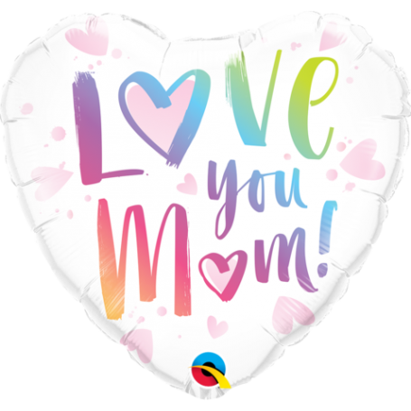 """Mother's Day Love You M(HEART)M!18"""" Foil Balloon"""