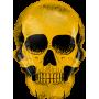 Large Golden Skull - Foil Balloon 91cm