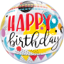 Birthday Circles & Dot Pattern - Bubble Balloon 22""