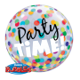 """Birthday Party Time Colourful Dots - Bubble Balloon 22"""""""