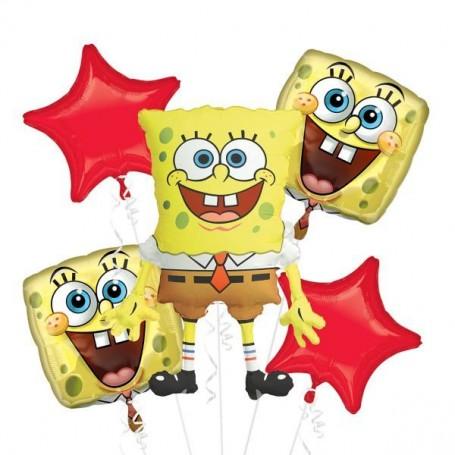 Spongebob Squarepants Licensed Foil Balloon Bouquet Pack - 5 Piece