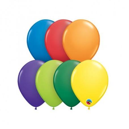 "Qualatex 5"" Round Latex Mini Balloon - Carnival Assorted"