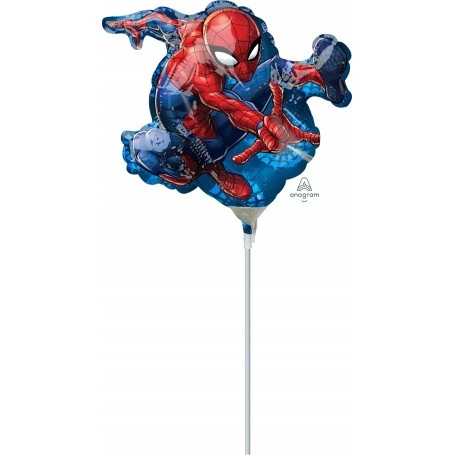 """Spiderman Anagram Mini Foil Shape - 14"""" (Air-Fill Only)"""