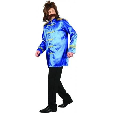 Blue Rockstar Beatles Shirt Men's Costume