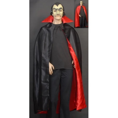 Satin Red & Black Dracula Cape - Reversible