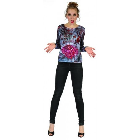 Zombie Lady 3D Print Long Sleeved Shirt