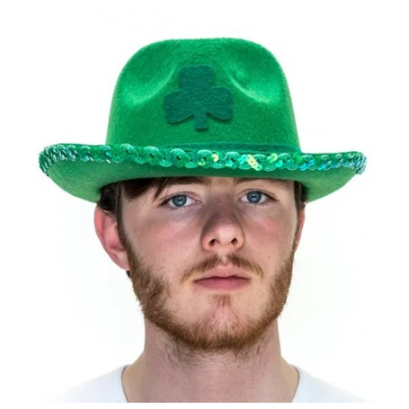 St Pat's Shamrock Clover Fedora Hat