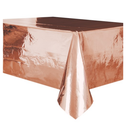 Table Cover Rectangle Metallic Rose Gold - 137cm x 274cm