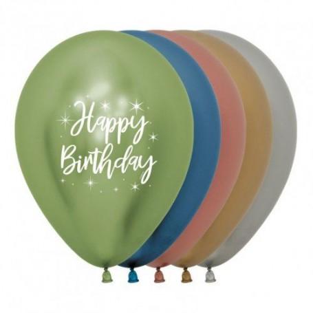 "Happy Birthday Radiant - 12"" Reflex Assorted"