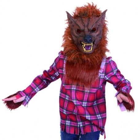 Wolfman Werewolf Costume - Mask & Shirt