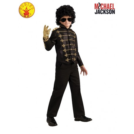 Michael Jackson Deluxe Military Jacket Costume - Black